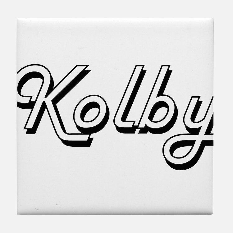 Kolby Classic Style Name Tile Coaster