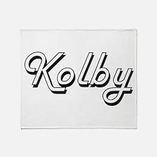 Kolby Classic Style Name Throw Blanket