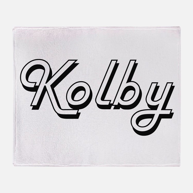 Kolby Classic Style Name Throw Blanket