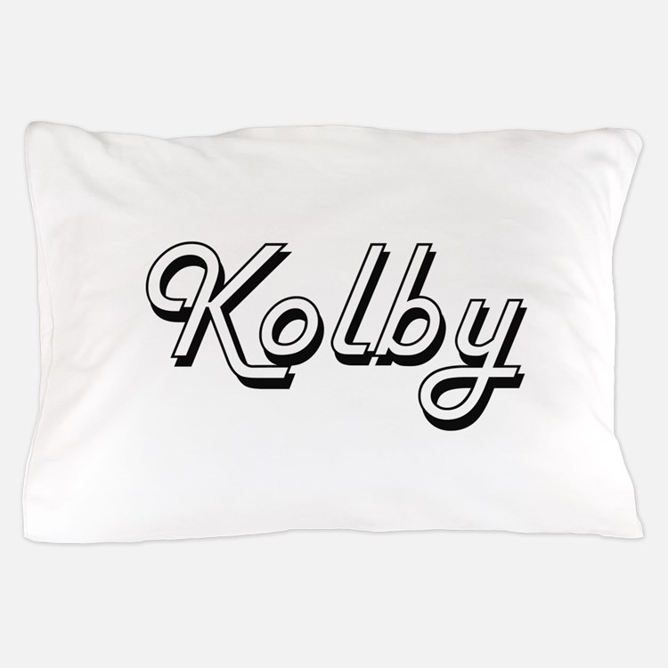 Kolby Classic Style Name Pillow Case