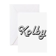 Kolby Classic Style Name Greeting Cards