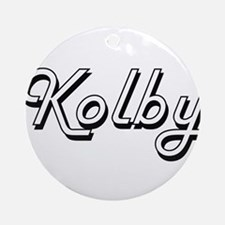 Kolby Classic Style Name Ornament (Round)