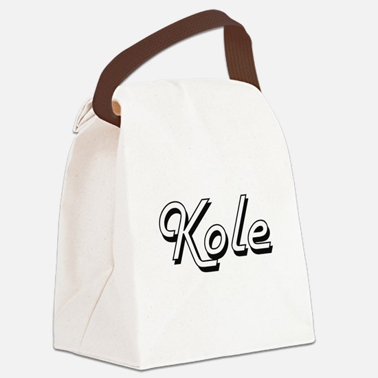Kole Classic Style Name Canvas Lunch Bag