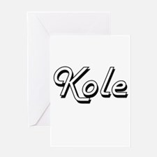 Kole Classic Style Name Greeting Cards