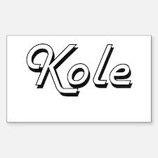 Kole Classic Style Name Decal