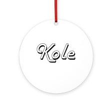 Kole Classic Style Name Ornament (Round)