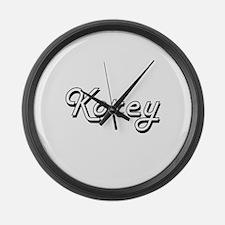 Korey Classic Style Name Large Wall Clock