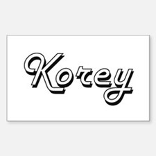 Korey Classic Style Name Decal