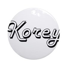 Korey Classic Style Name Ornament (Round)