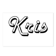 Kris Classic Style Name Postcards (Package of 8)