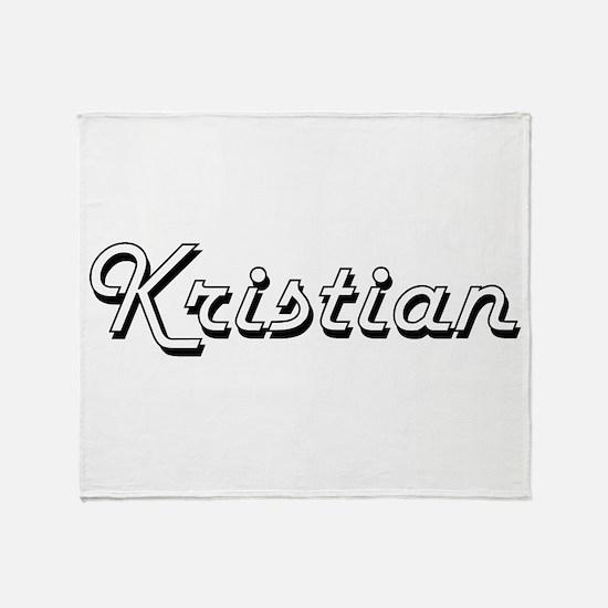 Kristian Classic Style Name Throw Blanket