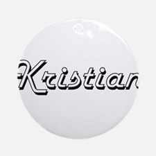 Kristian Classic Style Name Ornament (Round)