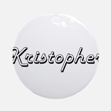 Kristopher Classic Style Name Ornament (Round)