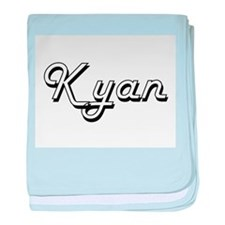 Kyan Classic Style Name baby blanket