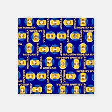 """Madeira islands flag Square Sticker 3"""" x 3"""""""