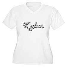 Kylan Classic Style Name Plus Size T-Shirt