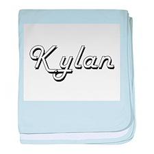 Kylan Classic Style Name baby blanket