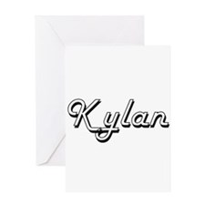 Kylan Classic Style Name Greeting Cards