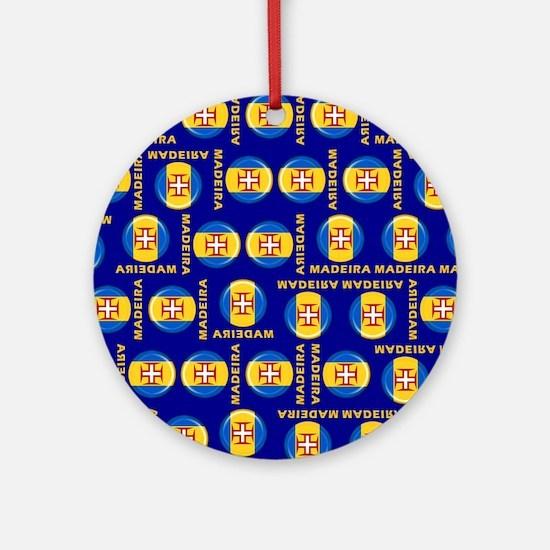 Madeira islands flag Round Ornament