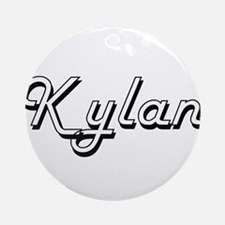 Kylan Classic Style Name Ornament (Round)
