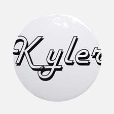 Kyler Classic Style Name Ornament (Round)