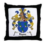 Kunz Family Crest Throw Pillow