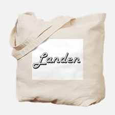 Landen Classic Style Name Tote Bag