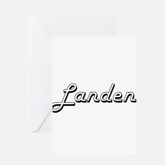 Landen Classic Style Name Greeting Cards