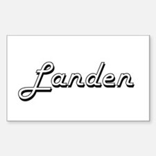Landen Classic Style Name Decal