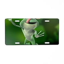 crazy frog Aluminum License Plate