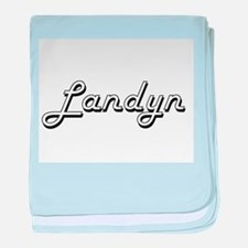 Landyn Classic Style Name baby blanket