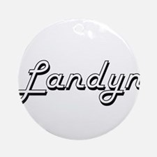 Landyn Classic Style Name Ornament (Round)