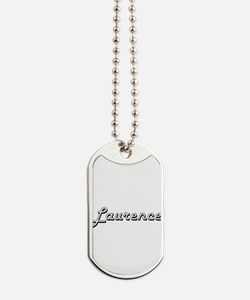 Laurence Classic Style Name Dog Tags