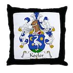 Koeler Family Crest Throw Pillow