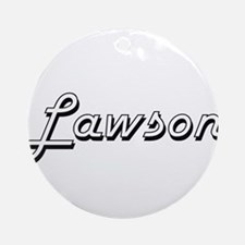 Lawson Classic Style Name Ornament (Round)