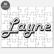Layne Classic Style Name Puzzle