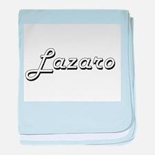 Lazaro Classic Style Name baby blanket