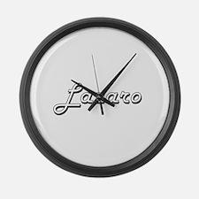 Lazaro Classic Style Name Large Wall Clock