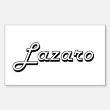 Lazaro Classic Style Name Decal