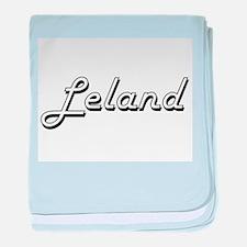 Leland Classic Style Name baby blanket