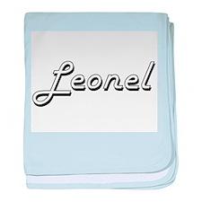 Leonel Classic Style Name baby blanket