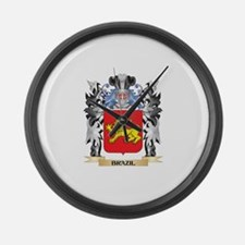 Brazil Coat of Arms - Family Cres Large Wall Clock