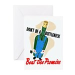 Don't Be A Bottleneck Greeting Cards (Pk of 20)
