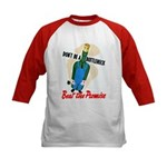 Don't Be A Bottleneck (Front) Kids Baseball Jersey