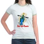 Don't Be A Bottleneck (Front) Jr. Ringer T-Shirt