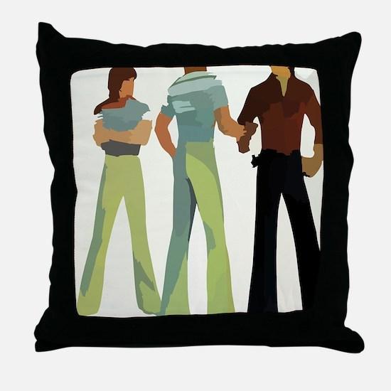 1970s vintage men Throw Pillow