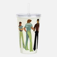 1970s vintage men Acrylic Double-wall Tumbler