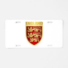 English Royal Arms Aluminum License Plate