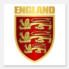 "English Royal Arms Square Car Magnet 3"" x 3"""
