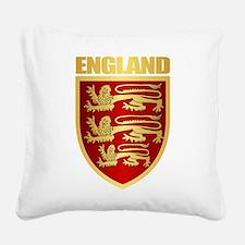 English Royal Arms Square Canvas Pillow